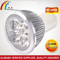 High power led spotlight bulb GU10 4W Warm white/cold white AC85-265V Free Shipping