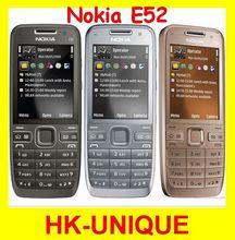 Hk Post or Singapore  free shipping E52 Original Nokia E52 WIFI GPS  3G Unlocked Mobile Phone Russian keyboard Russian language