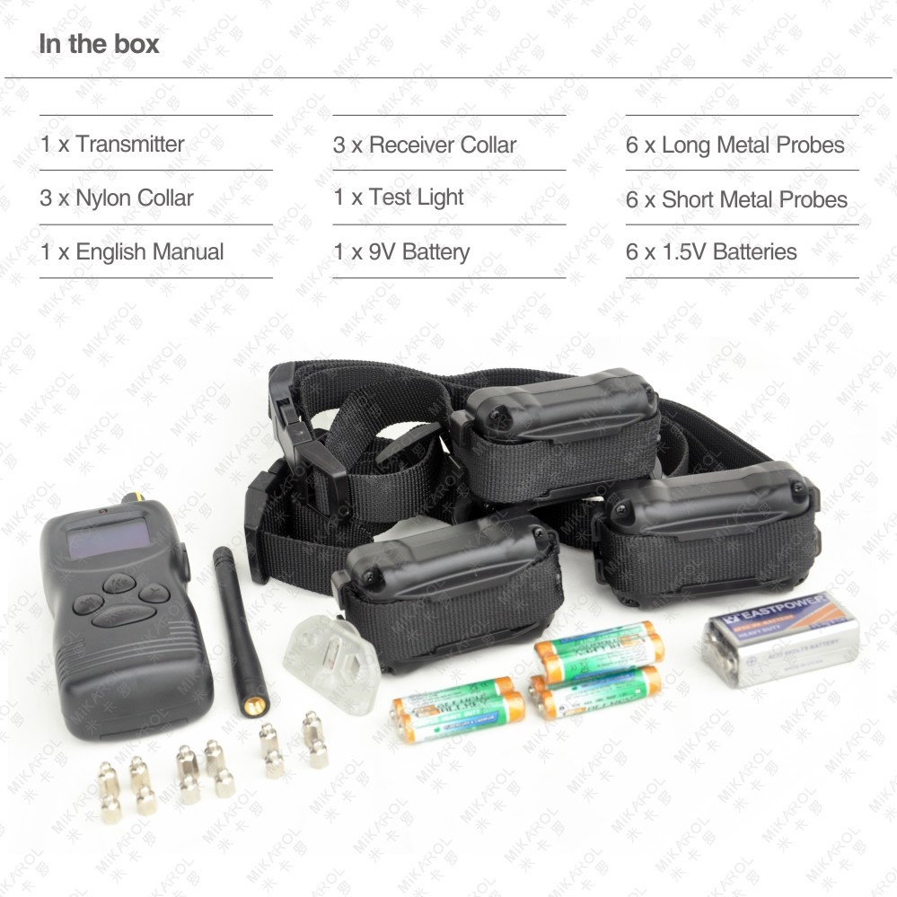 Free Shipping 1000M Remote Control Multi-Dog Training Collar System for 3 Dogs(China (Mainland))