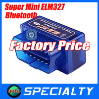 Free Shipping New Super MINI ELM327 Bluetooth OBD II Professional Diagnostic Tool ELM 327 Bluetooth Support Android