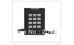 Access Control Card Reader Keypad Security Door Black ID Wiegand 26 RFID 125KHz Free Shipping(China (Mainland))
