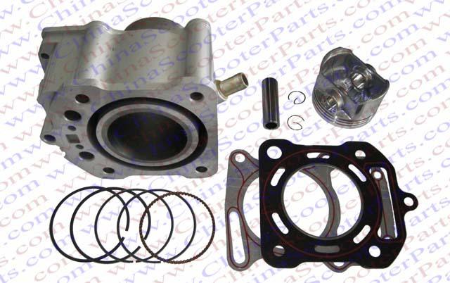 63.5mm Cylinder Piston Ring Gasket Kit Water 200CC Zongshen Shineray Bashan Taotao Dirt Bike Pit Bike ATVs Quad(China (Mainland))