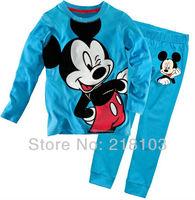 Baby pajamas boys girls Pyjamas suits pjs Cartoon Mickey Mouse pajamas cotton children underwear sleepwear 6sets/lot