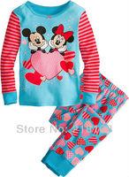 2013 Fashion children's pajamas baby pajamas baby sleepwear suits t-shirts + pants Kids long sleeve underwears sets 6set/lot