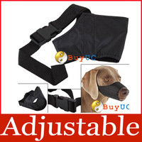 Adjustable Safety Pet Dog Mouth Set Nylon Muzzle Stop Chewing Bark Bite Size L