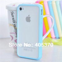 high quality Candy color TPU+PC case for iphone  4 4S