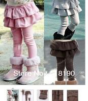 Free shipping Girl Leggings Pink Cake Skirt Leggings Culottes Spring wear