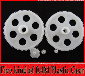 5 packs Five kind of 0.4M Plastic Model Gears Toy Parts DIY Necessary Parts Reduction Gear Sets