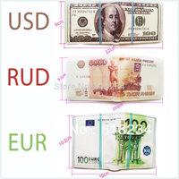 1 Piece Geek Man Money Wallet  USD / EUR / RUD Dollar Wallet / 5000 Ruble /100 Dollar