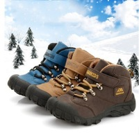 Children shoes boys shoes new winter boots 2014 add wool warm anti-slip leather snow boots