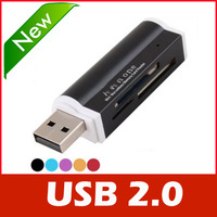 All in one USB 2.0 Multi Memory Card Reader for Micro SD/TF M2 MMC SDHC MS Duo