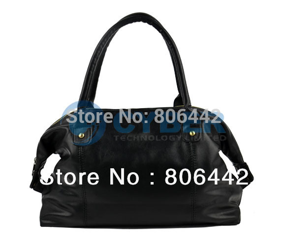 Korea Fashion Women's Girl Synthetic Leather Heart Shape Rivet Handbag Shoulder Bage 2013  9887