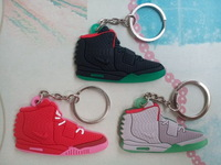 Free shipping! Shoes Keychain,Air Yeezy Sneaker Key Ring, 3 pcs/set