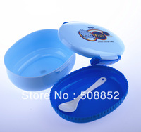 Free Shipping  plastic lunch box with Spoon Wholesale