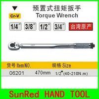 "SunRed BESTIR taiwan Chrome vanadium presetting system 1/2""(40-210N.M) L:470mm torque wrench spanner tool ,NO.06201 wholesale"