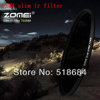Wholesale high quality ZOMEI brand Slim IR Filter 52mm Infrared X-Ray IR Pass Filter 760NM 52 MM lens camera