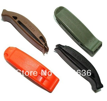 12pcs/set Outdoor survival whistle Lifesaving whistle Spot goods in stock