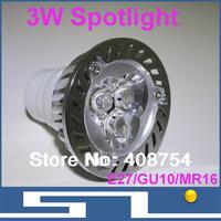 3W LED Ceiling spot light,AC85-265V,E27 MR16 GU10,Warm white/Cool white,LED Light Bulbs,CE&RoHS,20pcs/lot, free shipping
