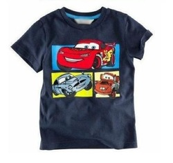 2013 new baby clothing Boys cartoon cars T Shirt Kids Childrens Tops tshirts Short Sleeve tees clothing dark blue free Shipping(China (Mainland))