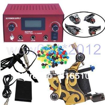 Pro Digital Tattoo Dual Power Supply Machine Accessories Kit Supply