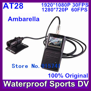 2013 Newest Full HD 1080P Sports camera AT28 sport dvr  waterproof dvr cameras,portable dvr with 2.0TFT LCD Free Shipping