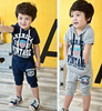 [1st Baby Mall] 5sets/lot Baby Boy summer tracksuits,Short Sleeves clothing set,Hooded T-shirt+short pants E-SSW-044