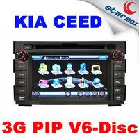 Car DVD for Kia Ceed 2010 - 2011 Car GPS Navigation Bluetooth Radio IPOD Video Audio Player PIP 3G USB Host Ship in 48 hours