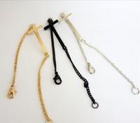Free shipping 2013 Fashion popular metal punk cross bracelet black/silver/gold mix color cross bracelet wholesale price $0.58/pc