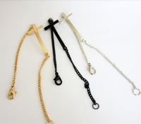 Free shipping 2013 Fashion popular metal punk cross bracelet black/silver/gold mix color cross bracelet wholesale price $0.58/pc