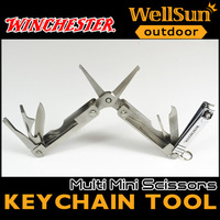 MOQ:1pc 100% OEM Winchester Mini Scissors Multi Tool With Nail Cutter camping knife the knife of the survival #GB05