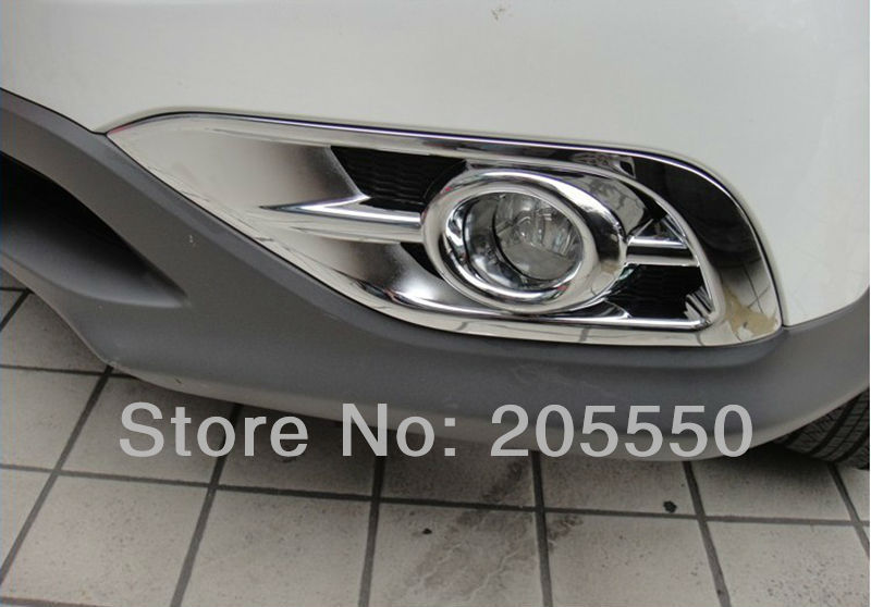 Car Front Fog Light Cover Fog Lamp Hoods fit for Honda 2012CRV auto exterior accessories with ABS Chrome free shipping!(China (Mainland))