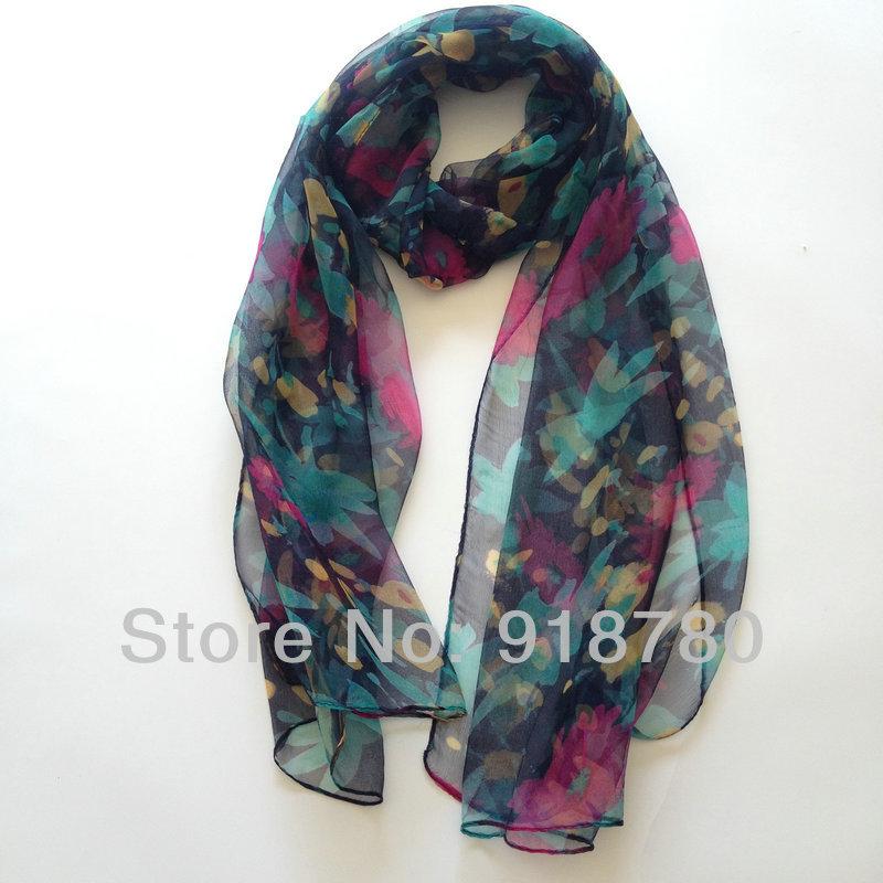 100 silk scarf free shipping 45cm 145cm