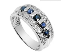 fashion jewelry, elegant 925 pure silver ,blue sapphire rings, wedding gift,women's ring,SR0041S