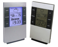 Wholesale 2pcs/lot High Quality Digital LED Temperature Humidity Meter Thermometer Hygrometer Clock