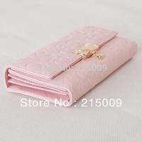 Free Shipping Zipper Change Bag Women's Purse Ladies Long Wallet