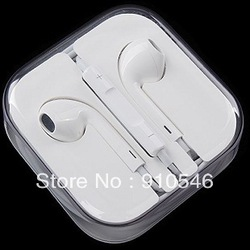 HOT stereo earphone with remote volume control or mic earphone for iphone 5 4g 4s 3gs ipad ipod headset headphone(China (Mainland))
