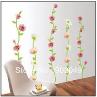 Hot sale 50x70cm wallpaper cute butterfly flower decorative window film wall sticker decoration house KC-2031