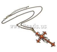 2013 New Fashion Cross Shape Zinc Alloy Chain Necklace Free Shipping