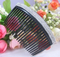 Min order $15(can mix color)Free shipping 2013 Newest Design 15pcs/lot Fashion Bridal Rhinestone Hair Comb