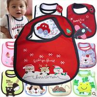 2014 Hot carters bibs waterproof baby bibs infant saliva towels Christmas baby bibs 5pcs WZ13