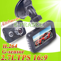 ambarella A2S60   CAR DVR 1080P +170 Degree Wide angle lens+  H.264 Video Codec+ Night Vision + Loop Recording G-sensor