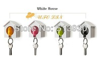 Fast free Shipping sparrow key ring with whistle,have bird's nest hang on the wall/bird key ring,good gift, 12pieces/lot