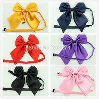 retail plain satin bow tie knots neck tie women's butterflies butterfly bowtie waiter student compere ties