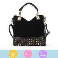 Personalized New Fashion Brand Design Women Noble PU Leopard Dot Handbag  Shoulder hand Bag, 2012 FREE Shipping