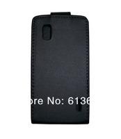New Black Flip PU Leather Case Cover for For LG E960 Google Nexus 4