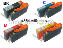 4 pcs New Compatible ink cartridge for HP 364 364XL B8550 C5324 B109a B209a C309a(China (Mainland))