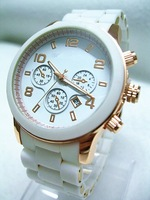 Free shipping 2014 New Fashion Kors Watch Rose Gold Dial Women Dress Watch Men Luxury Brand Quartz Watch 4 Color