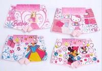free shipping! children's Cartoon panties kids pants Children's cute cotton short underwear/breifs