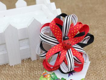 ladybug girl hair clip, free shipping