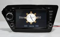 "8"" Car DVD Player for KIA K2 / Rio 2011 2012 with GPS,Bluetooth,Ipod,TV,Russian language,3G, Free GPS map,Free shipping"